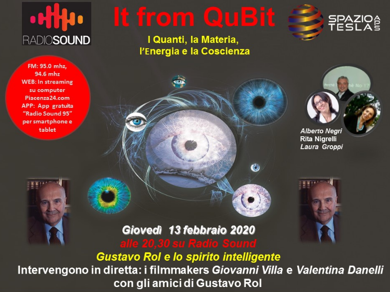 Locandina It from Qubit Gustavo Rol